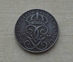 Швеция 5 эре 1950 (иностранные монеты)