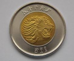 Эфиопия 1 бирр 2010 (иностранные монеты)