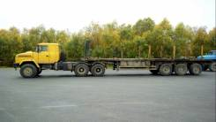 Краз 6443. тягач вездеход 6х6 с Прицепом, 12 000 куб. см., 30 000 кг.