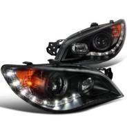 Фары в сборе LED (черные) для Subaru Impreza WRX/STi (GDA/GDB) (2005+)