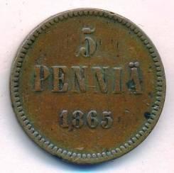 5 пенни 1865г.