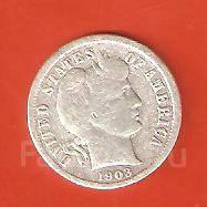 10 цент 1903 г. США. Серебро.