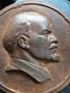 Старинная редкая чугунная плакетка Ленин. Оригинал