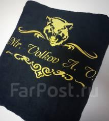 Халаты и полотенца с именной вышивкой