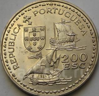 200 Эскудо 1994 год. Португалия. Парусник. Мореплаватель Генрих.