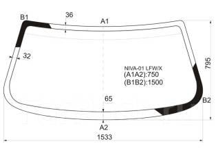 Стекло лобовое. Chevrolet Niva, FAM1 Двигатели: Z18XE, BAZ2123