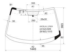 Стекло лобовое. Mazda Mazda3, BK
