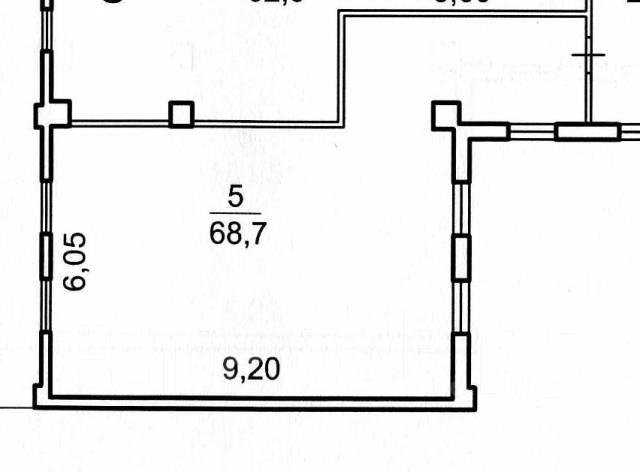 Отличный офис в центре города от собственника 70 кв. 68 кв.м., улица Морская 1-я 9, р-н Центр. План помещения