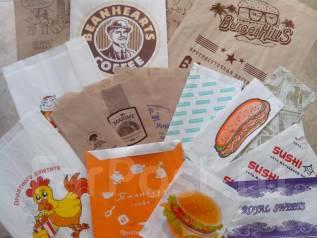 Бумажные пакеты выпечеки и др. пищевых товаров. Крафт, подпергамент.