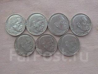 Германия 7 х 2 марки 1938 г. П. фон Гинденбург. серебро