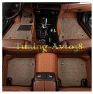 Коврики в салон кожаные+ворс (коричневые )Toyota Land Cruiser FJ80