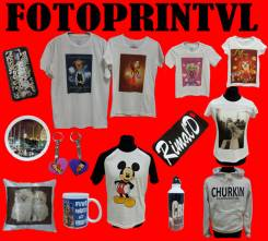 Фото печать на футболках, кружках, подушках и сувенирах фотоподарки