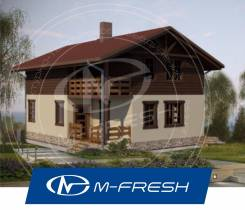M-fresh Tomas-зеркальный (Проект каркасного дома с мансардой). 100-200 кв. м., 2 этажа, 5 комнат, каркас