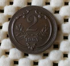 Австрия 2 гелера 1912г. Люкс. бронза