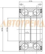 Подшипник FR ступицы TOYOTA HIGHLANDER GSU 40 07-/LEXUS RX270/350/450H 08- SAT ST-45BWD17