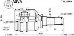 Шрус внутр.ТУ (LH / RH) ET196 / AT19# / AT21#, Type B AE100 / 110 / EE11#, NZE121, 4WD NCP15 / 25 43403-12040