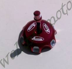 Крышка бензобака Accel CR/CRF/XR/KX/KLX/RM/RMZ Красный (Taiwan) GTC-06