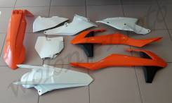 Комплект пластика Polisport KTM SX/SX-F/XC-F 2016 ОРАНЖЕВЫЙ с белым 90679