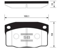 Тормозные колодки Sangsin Brake SP1055 96133555S