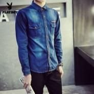 Рубашки джинсовые. 62