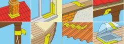 Самоклеющаяся полимерно-битумная (СБС) герметизирующая лента Экобит для примыканий и ремонта коричневый, рул. 10 м х 0,30м
