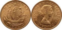 Великобритания 1/2 пенни 1966 год (иностранные монеты). Под заказ
