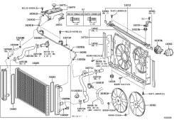 Радиатор охлаждения двигателя. Toyota: Alphard, RAV4, Vellfire, Harrier, Estima Двигатели: 2AZFE, 1AZFE, 3ZRFAE, 2AZFXE