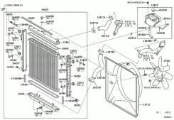 Диффузор. Toyota Land Cruiser, VDJ200 Двигатель 1VDFTV