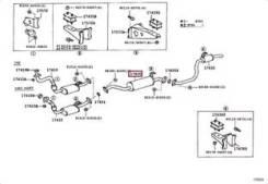 Выхлопная труба. Toyota Land Cruiser, FJ80, FZJ80, HDJ80, HZJ80, HZJ81 Двигатели: 1HZ, 3FE, 1HDT, 1FZFE, 1HDFT