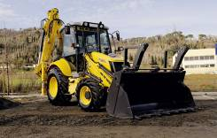 New Holland B90B. Экскаватор-погрузчик LR, 100 куб. см., 0,22 куб. м.