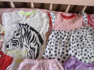 Летние вещи девочке пакетом на 1-2 года. Рост: 80-86, 86-98 см