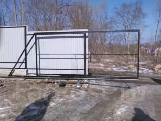 Забор из профлиста ворота откатные