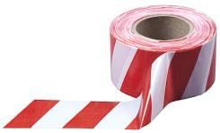 Лента оградительная ш. 75 мм, рулон 200 м, красно-белая