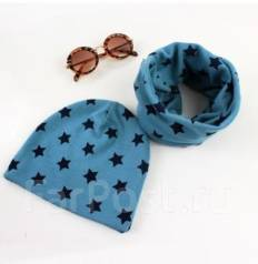 Шапка и шарф. Рост: 74-80 см