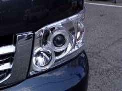 Фары тюнинг Toyota Hiace 2005 хром белые линза. Отправка по Миру!