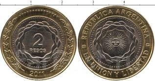 Аргентина 2 песо 2014 год (иностранные монеты)