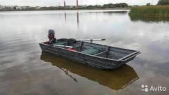 Сварная лодка для рыбалки и охоты. Год: 2016 год, длина 3,50м., двигатель подвесной, 10,00л.с., бензин