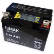 Мотоциклетный АКБ MAK 6FM-4 DS емк.4А/ч с индикатором заряда АвтоТок