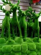 Искусственный мох на фигурках животных