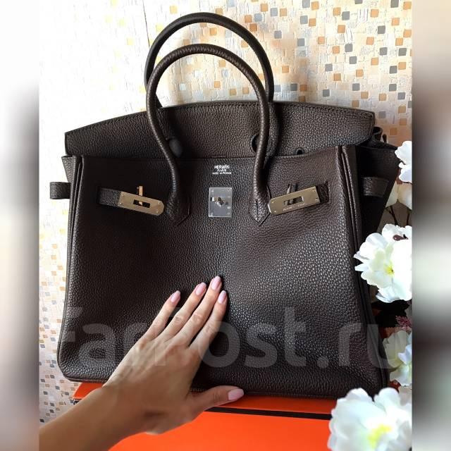 5f8617b753a0 Шикарная сумка Hermes Birkin в цвете тёмный шоколад . Элитное ...