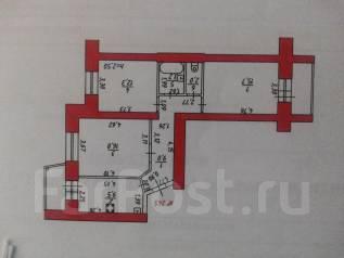 3-комнатная, переулок Байкальский 5. Индустриальный, частное лицо, 68 кв.м.
