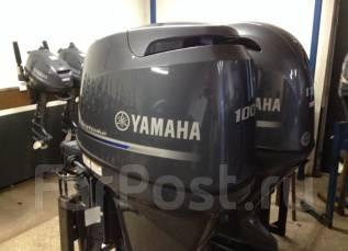 Yamaha. 100,00л.с., 4х тактный, бензин, нога L (508 мм), Год: 2014 год