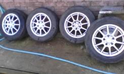 Продам летние шины б/у на литье R15. 6.0x15 5x114.30 ET45