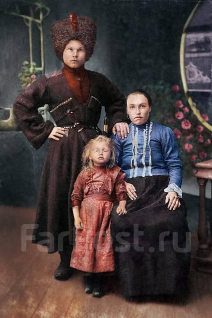 Реставрация старых фотографий. Оцветнение фотографий
