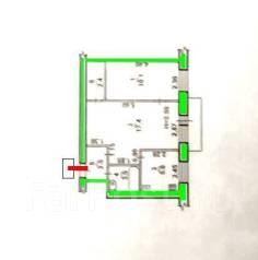 2-комнатная, Тихоокеанская 114. Кировский, агентство, 43 кв.м.