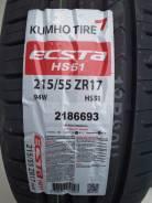 Kumho Ecsta HS51. Летние, 2017 год, без износа, 4 шт