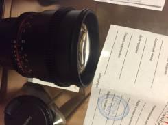 Samyang 85m 1.5 vdslr. Для Sony, диаметр фильтра 77 мм