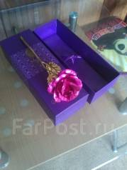 Золотая роза для любимой (подарок девушке/женщине без повода )