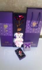 """Набор""""Женские радости""""(золотая роза+радости)подарок для любимых"""