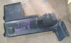 Дефлектор радиатора. Nissan Tiida, C11, C11X Двигатель HR15DE
